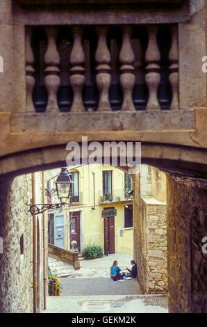 Pujada Sant Domenec,Girona,Catalonia, Spain. - Stock Photo