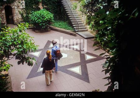 Centre Bonastruc Ça Porta, Museum of Catalan Jewish History. Girona. Spain. - Stock Photo