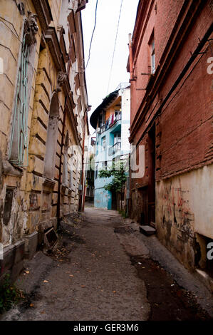 Old streets Capital Of tbilisi Georgia - Stock Photo
