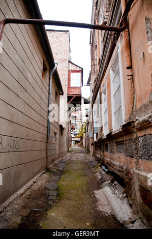 Old streets Capital Of tbilisi Georgia - Stock Photo