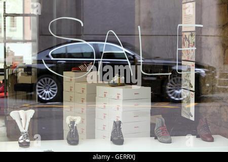 Zuerich, Switzerland, Sale in a shoe shop - Stock Photo