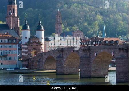 Old Bridge, Heidelberg - Stock Photo