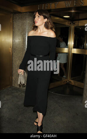 New York City, USA. 28th July, 2016.  Mandy Moore promoting her new NBC series This Is Us at 30 Rock New York. NY - Stock Photo