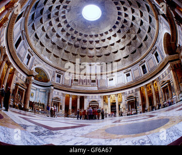 Interior of the Pantheon, Rome, Italy - Stock Photo
