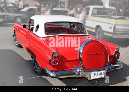 Antique car Ford Thunderbird 1956 - Stock Photo