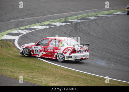Silverstone,Towcester,UK,30th July 2016,Vauxhall taking part in the Jet Super Touring Car Trophy race which took - Stock Photo