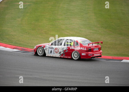 Silverstone,Towcester,UK,30th July 2016,Vauxhall Vectra taking part in the Jet Super Touring Car Trophy race which - Stock Photo
