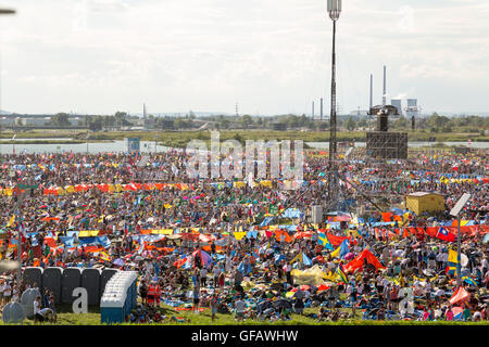 Krakow, Poland. 30th July, 2016. Vigil with Pope Francis at WYD 2016 in Krakow Credit:  Lorenzo Bossi/Alamy Live - Stock Photo