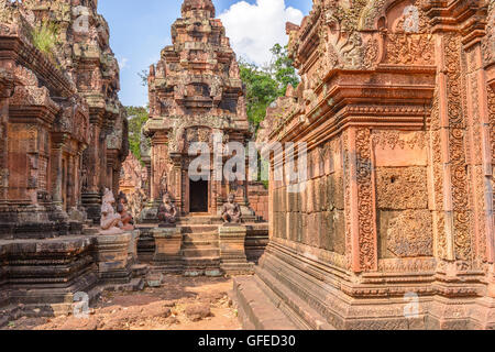 Banteay Srei Temple, Siem Reap, Cambodia - Stock Photo