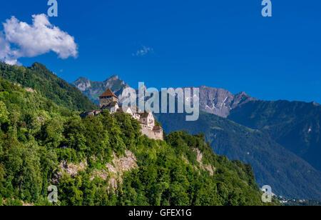 Schloss Vaduz Castle, Principality of Liechtenstein, Europe - Stock Photo