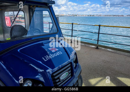 RNLI, Lifeboats. electric car - Stock Photo