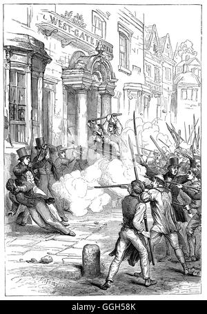 The Newport Rising was the last large-scale armed rebellion against authority in Great Britain, and one of the largest - Stock Photo