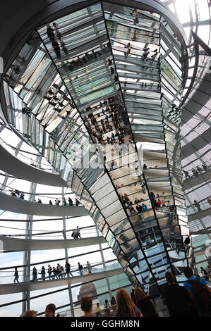 In the Cupola of the Reichstag, Berlin, Germany - Stock Photo