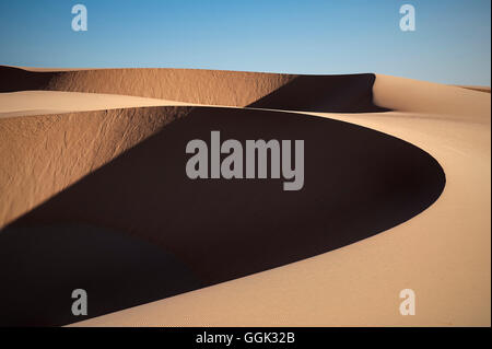 White Sand Dunes of fishing village Mui Ne, Vietnam, Southeast Asia - Stock Photo
