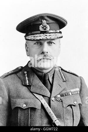 Sir Douglas Haig. Portrait of Field Marshal Douglas Haig, 1st Earl Haig,  (1861-1928). Photo c.1917. - Stock Photo