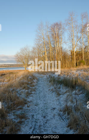 winter in sweden on the westcoast. Stigfjorden betwhen Tjorn and Orust - Stock Photo