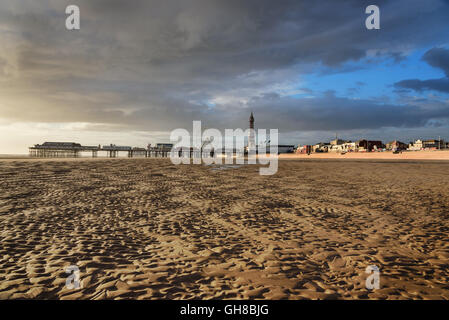 Blackpool Pleasure Beach commonly referred to as Pleasure Beach Resort or simply Pleasure Beach in England. - Stock Photo