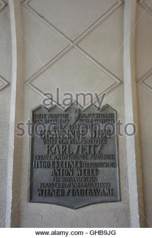 Wien, Gemeindebau des Roten Wien, Vienna, Council Tenement Block, Red Vienna, Toeplerhof, Währinger Strasse 169ñ171, - Stock Photo