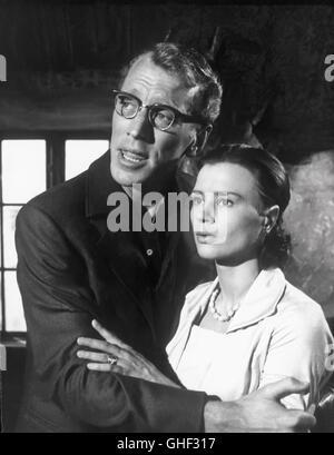 WIE IN EINEM SPIEGEL Sasom i en spegel Schweden 1961 Ingmar Bergman MAX VON SYDOW (Martin), HARRIET ANDERSSON (Karin) - Stock Photo