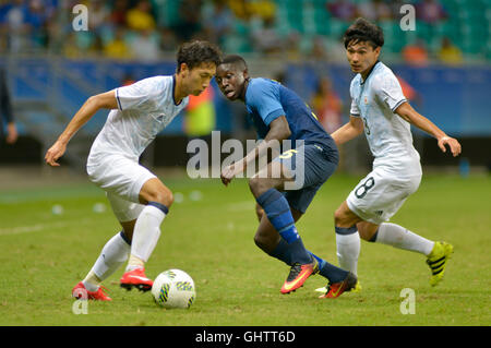 Salvador, Brazil. 10th August, 2016. OLYMPICS 2016 FOOTBALL SALVADOR - match between Japan (JPN) and Sweden (SWE) - Stock Photo