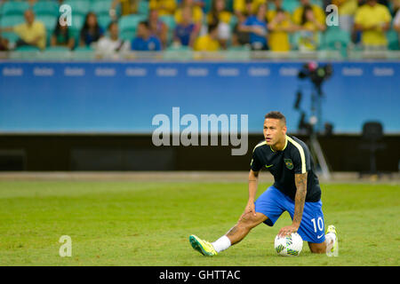 Salvador, Brazil. 10th August, 2016. OLYMPICS 2016 FOOTBALL SALVADOR - Match between Brazil (BRA) and Denmark (DIN) - Stock Photo