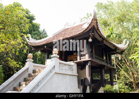 One Pillar Pagoda, Hanoi - Stock Photo