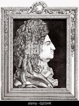 Louis XIV, 1638-1715, Louis the Great, Sun King, Ludwig XIV., King of France - Stock Photo