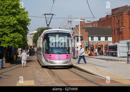 Wolverhampton St George's tram stop on Bilston Street in Wolverhampton, England - Stock Photo