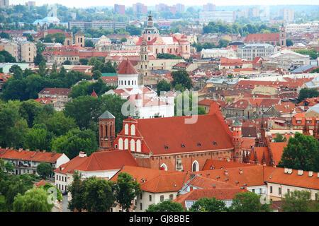 Vilnius old town view, Lithuania - Stock Photo