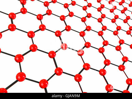 3D render image of some molecules representing an abstract background - Stock Photo