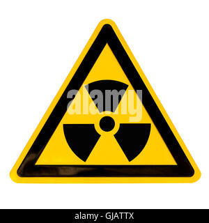 Radioactive Sign isolated on white - Stock Photo