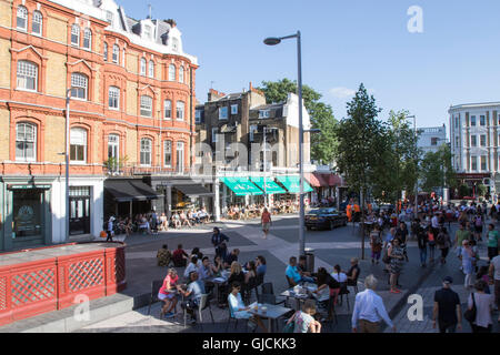 Exhibition Road in the Royal Borough of Kensington and Chelsea and the City of Westminster Greater Central London - Stock Photo