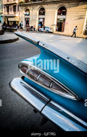Details of classic car havana cuba - Stock Photo