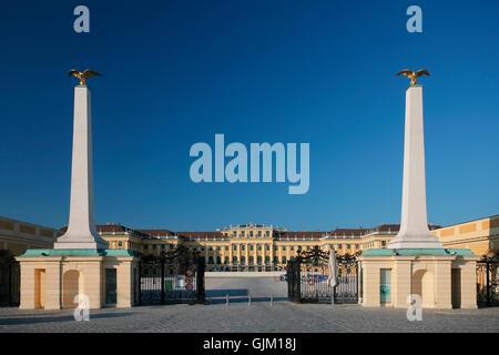 vienna,schonbrunn palace,entrance - Stock Photo