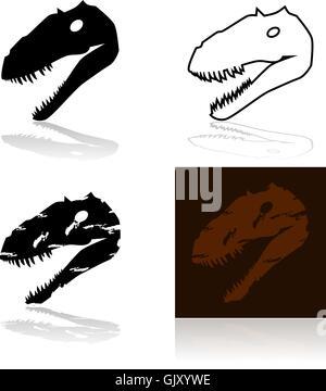 Dinosaur head - Stock Photo