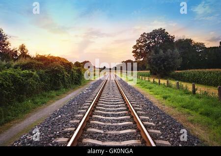 railway locomotive train - Stock Photo