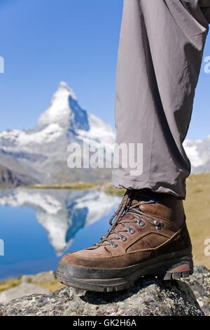 boot alps hike - Stock Photo