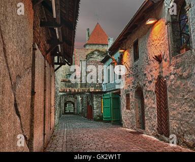 city town estonia - Stock Photo