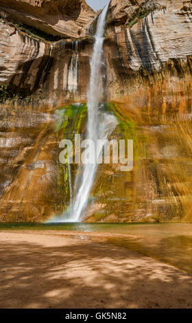 Lower Calf Creek Falls, Grand Staircase-Escalante National Monument, Utah, USA - Stock Photo