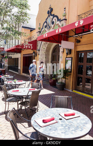 Sarasota Florida Downtown Two Senoritas Restaurant family business Mexican food Southwest cuisine exterior dining - Stock Photo