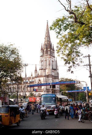 St Joseph's College Church, a replica of the Cathedral,Lourdes,France in Tiruchirapalli, Tamil Nadu, India  travel - Stock Photo