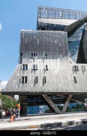 41 Cooper Square, new Cooper Union college building in New York - Stock Photo