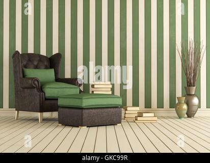 armchair interior vintage - Stock Photo