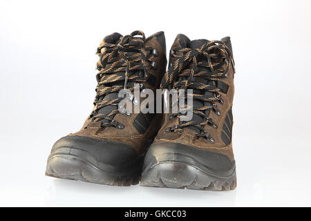 walking boots - Stock Photo