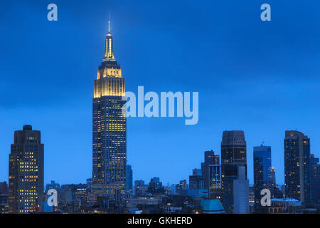 USA, New York, New York City, Manhattan, Empire State Building - Stock Photo