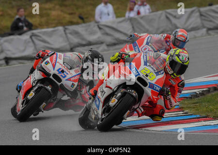 Hohenstein Ernstthal, Germany. 21st Aug, 2016. BRNO, CZECH REPUBLIC - AUGUST 21: Andrea Iannone of Italy and Ducati - Stock Photo
