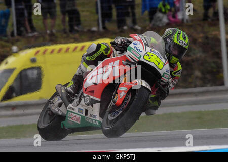 Hohenstein Ernstthal, Germany. 21st Aug, 2016. BRNO, CZECH REPUBLIC - AUGUST 21: Cal Crutchlow of Great Britain - Stock Photo
