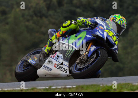Hohenstein Ernstthal, Germany. 21st Aug, 2016. BRNO, CZECH REPUBLIC - AUGUST 21: Valentino Rossi of Italy and Movistar - Stock Photo