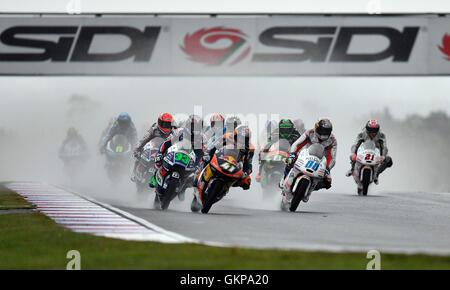 Brno, Czech Republic. 21st Aug, 2016. Grand Prix of the Czech Republic 2016, Moto3, Brno, Czech Republic, August - Stock Photo