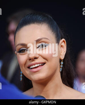 MILA KUNIS US film actress in August 2016. Photo Jeffrey Mayer - Stock Photo